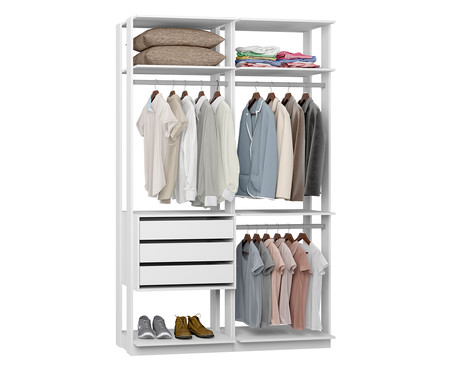 Guarda-Roupa Closet Gali - Branco | WestwingNow