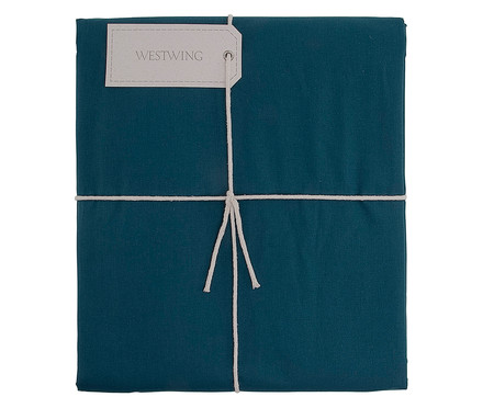 Duvet Ive Azul Pavão - 200 Fios | WestwingNow