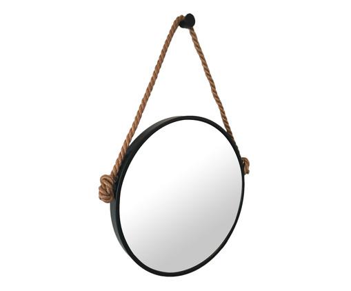 Espelho com Alça Adnet Rope - Preto e Café, Preto | WestwingNow