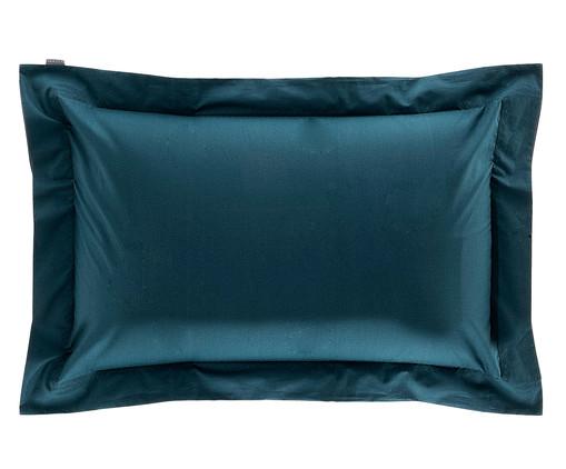 Fronha Bordada Azul Pavão - 200 Fios, Azul | WestwingNow