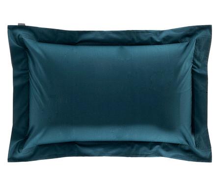 Fronha Bordada Azul Pavão - 200 Fios | WestwingNow