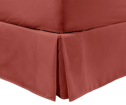 Saia para cama box Ive Coral Bronze - 200 Fios, Coral | WestwingNow