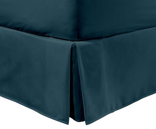 Saia para Cama Box Ive Azul Pavão - 200 Fios, Azul Pavão | WestwingNow