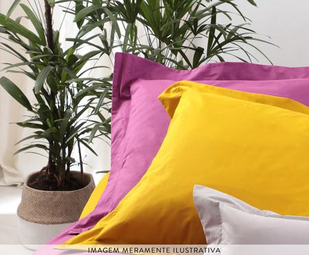Saia para cama box Ive Amarelo Açafrão - 200 Fios | WestwingNow