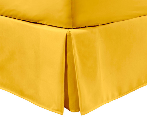 Saia para cama box Ive Amarelo Açafrão - 200 Fios, Amarelo | WestwingNow