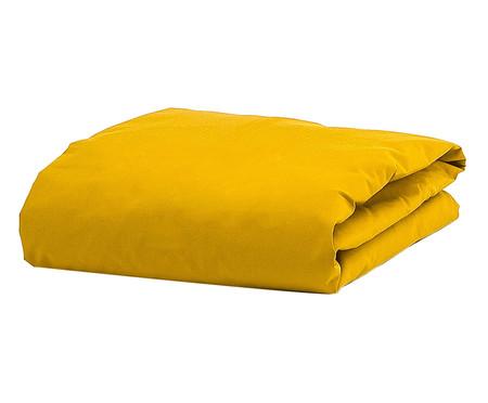 Lençol Inferior com Elástico Ive Amarelo Açafrão - 200 Fios | WestwingNow