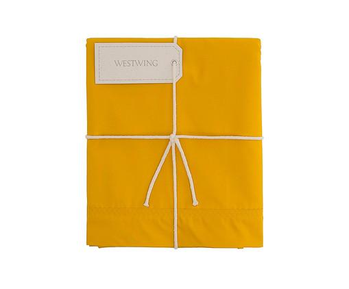 Lençol Inferior com Elástico Ive Amarelo Açafrão - 200 Fios, Amarelo Açafrão   WestwingNow