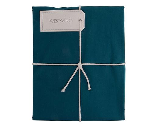 Lençol Inferior com Elástico Ive Azul Pavão - 200 Fios, Azul Pavão | WestwingNow