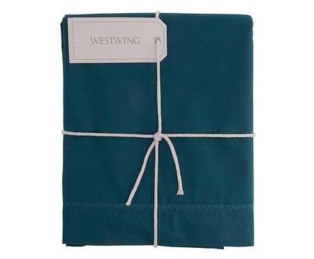 Lençol Superior Ive Azul Pavão - 200 Fios   WestwingNow