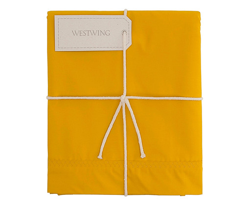 Lençol Superior Ive Amarelo Açafrão - 200 Fios, Amarelo | WestwingNow