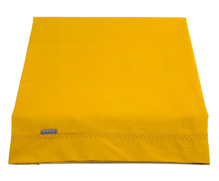 Lençol Superior Ive Amarelo Açafrão - 200 Fios | WestwingNow