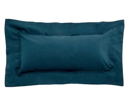 Capa de Almofada Ive Azul Pavão - 200 Fios | WestwingNow