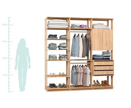 Guarda-Roupa Closet Lina Max - Carvalho | WestwingNow