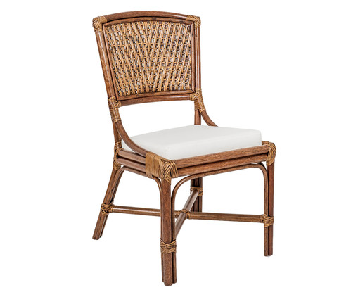 Cadeira de Madeira Eva - Castanho, Branco, Natural | WestwingNow