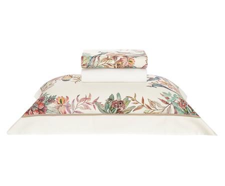 Jogo de Lençol de Algodão Cetim 300 Fios Petali Floral - Colorido | WestwingNow