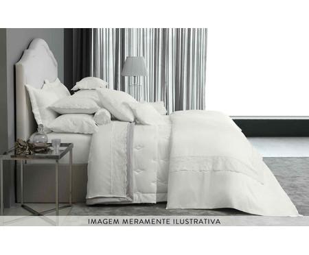 Fronha para Travesseiro King de Cetim Jayden 600 Fios - Branca | WestwingNow