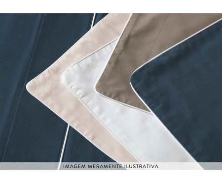 Jogo de Lençol 200 Fios Filetti - Azul Marinho e Branco | WestwingNow