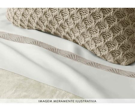 Fronha para Travesseiro King de Cetim Amelia 600 Fios - Branca | WestwingNow