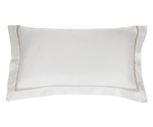 Fronha para Travesseiro King de Cetim Amelia 600 Fios - Branca, Branco | WestwingNow