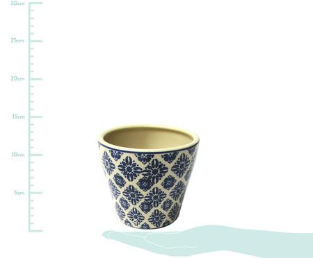Cachepot de Cerâmica Dimas - Bege e Azul | WestwingNow