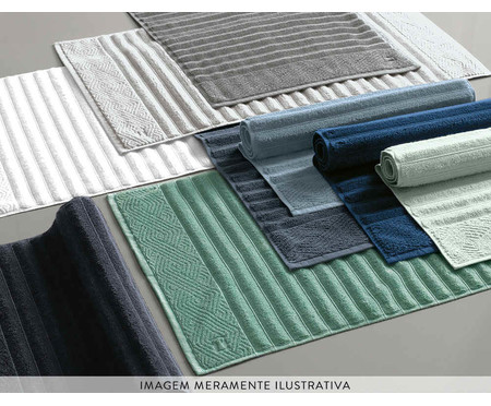 Toalha de Piso Ondulato 720 g/m² - Preta | WestwingNow