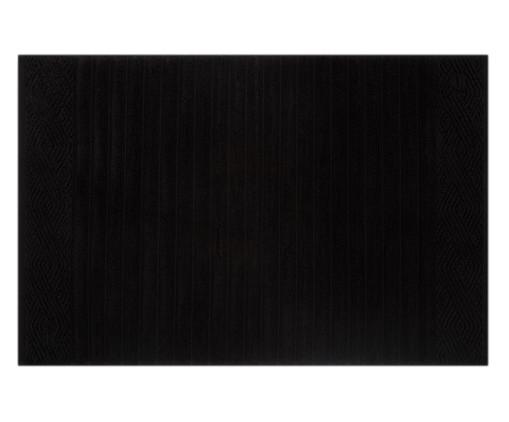 Toalha de Piso Ondulato 720 g/m² - Preta, Preto, Colorido | WestwingNow