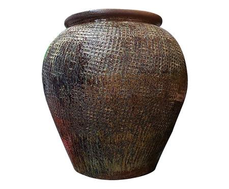 Vaso de Piso em Cerâmica Ester - Marrom e Preto | WestwingNow