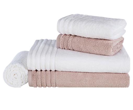 Jogo de Toalhas Imperiale Soft Rosé - 540 g/m², Ros | WestwingNow