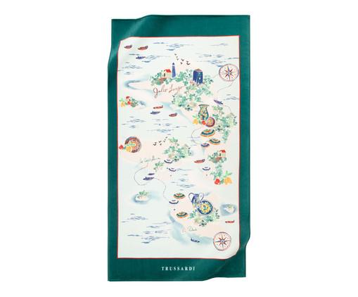 Toalha de Praia Trussardi Delfini 470 g/m² - Verde, Verde   WestwingNow