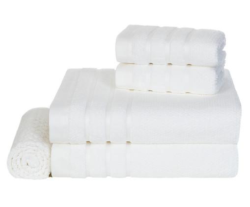 Jogo de Toalhas Massima 660 g/m² - Branco, Branco, Colorido | WestwingNow