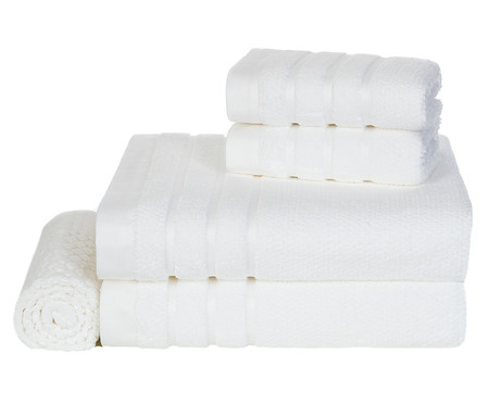 Jogo de Toalhas Massima Branco - 660 g/m² | WestwingNow