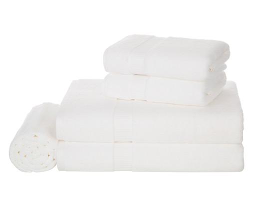 Jogo de Toalhas Doppia Branco - 530 g/m², Branco, Colorido | WestwingNow