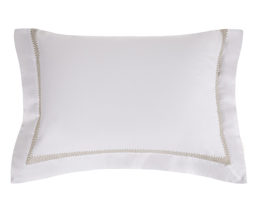 Fronha de Cetim Kelsea 300 Fios - Branca, Branco | WestwingNow