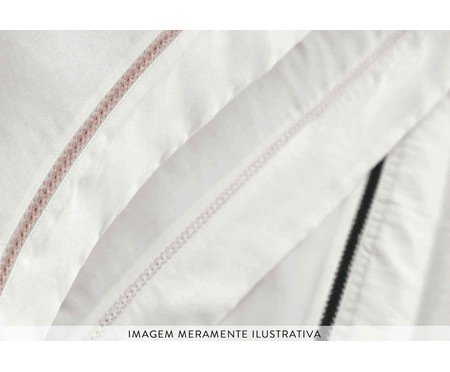 Fronha de Cetim Jake 300 fios - Preta e Branca | WestwingNow