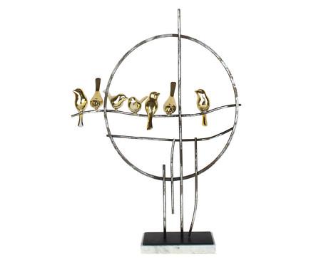 Adorno Decorativo de Metal Pássaros Cora - Preto e Dourado | WestwingNow
