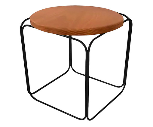 Banquinho Cubo - Preto, Preto, Colorido | WestwingNow