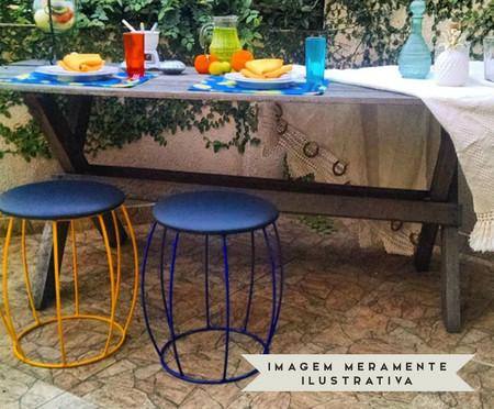 Banquinho Barril - Azul | WestwingNow
