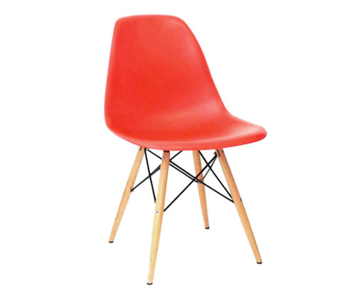 Cadeira Eames Wood - Vermelha, Laranja, Colorido | WestwingNow