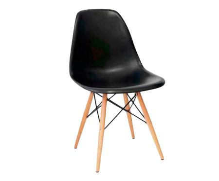 Cadeira Eames Wood - Preta | WestwingNow