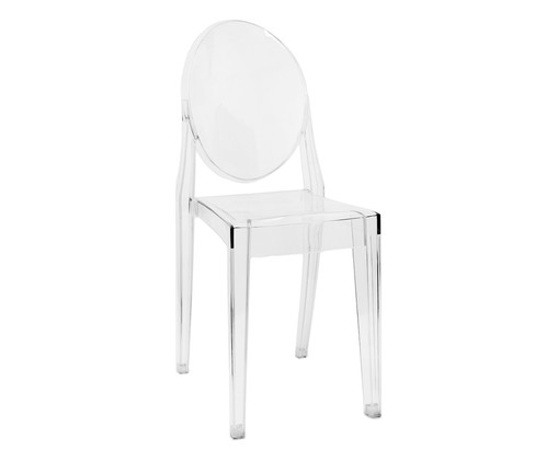 Cadeira Sofia - Transparente, Branco, Colorido | WestwingNow