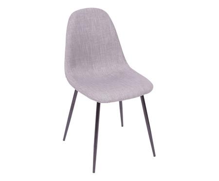 Cadeira em Linho Layla - Preta e Cinza | WestwingNow