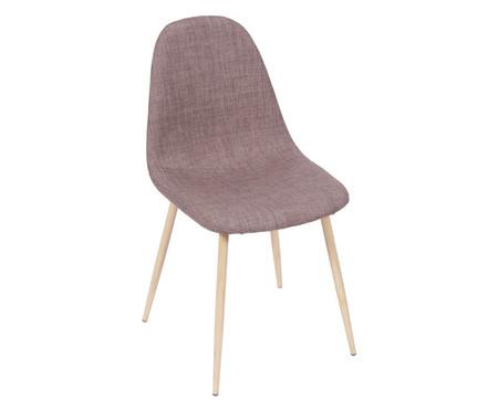 Cadeira em Linho Layla - Marrom | WestwingNow