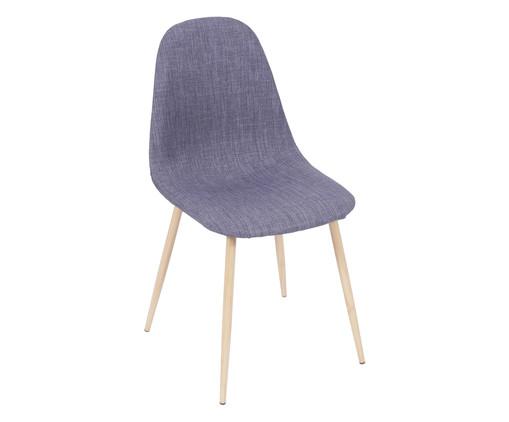 Cadeira em Linho Layla - Azul, Branco, Colorido | WestwingNow