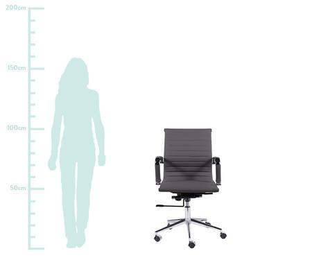 Cadeira de Escritório com Rodízios Glove Baixa - Cinza Chumbo | WestwingNow