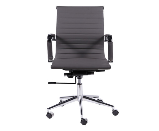 Cadeira de Escritório com Rodízios Glove Baixa - Cinza Chumbo, Branco, Colorido | WestwingNow