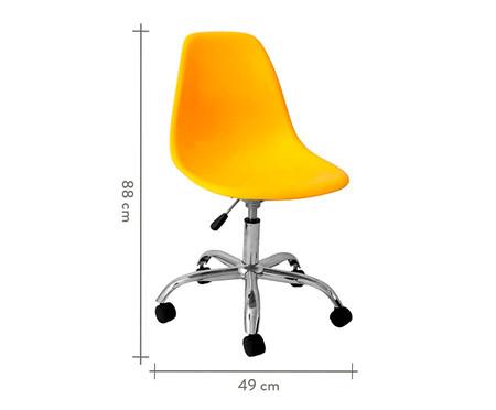 Cadeira com Rodízios Eames - Amarela | WestwingNow