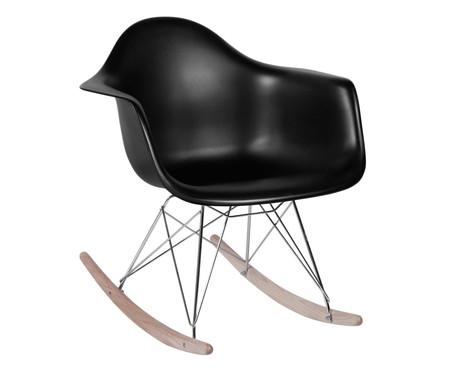 Cadeira de Balanço Finella Wood - Preta | WestwingNow