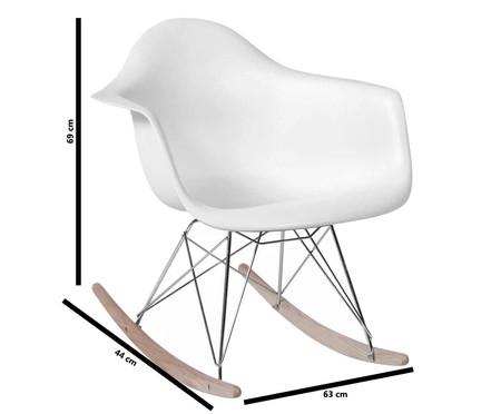 Cadeira de Balanço Finella Wood - Branca | WestwingNow