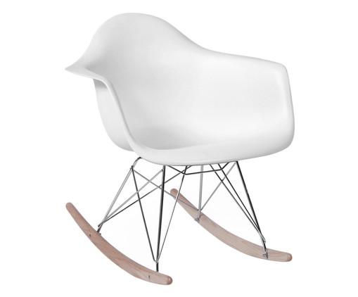 Cadeira de Balanço Finella Wood - Branca, Branco, Colorido | WestwingNow