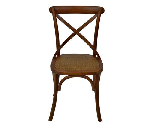 Cadeira de Madeira Cross - Caramelo, Natural | WestwingNow